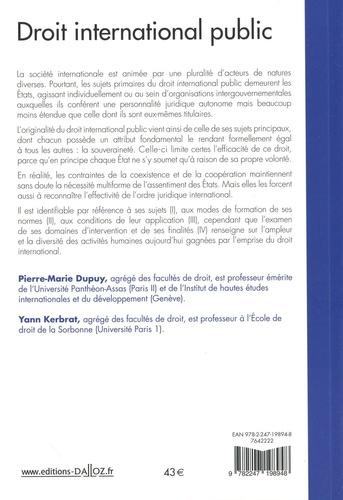 Droit international public 15e édition