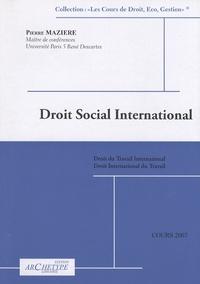 Pierre Mazière - Droit social international - Cours.
