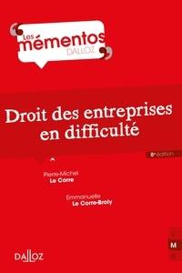 Pierre-Michel Le Corre - Droit des entreprises en difficulté.