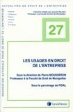 Pierre Mousseron - Les usages en droit de l'entreprise.