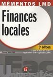 Pierre Mouzet - Finances locales - A jour de tous les textes applicables au 1er septembre 2006.
