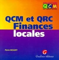 QCM et QCR Finances locales - Pierre Mouzet |