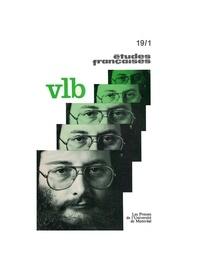 Pierre Nepveu et Benoît Melançon - Volume 19, numéro 1, printemps 1983 - VLB.