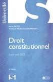 Pierre Pactet et Ferdinand Mélin-Soucramanien - Droit constitutionnel.