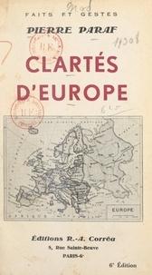 Pierre Paraf - Clartés d'Europe.