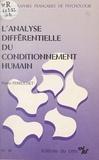 Pierre Perruchet - L'analyse différentielle du conditionnement humain.