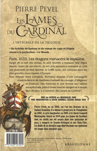 Les Lames du Cardinal L'intégrale de la tr Tome 1, Les lames du Cardinal ; Tome 2, L'alchimiste des Ombres ; Tome 3, Les Arcanes -  -  Edition 2019