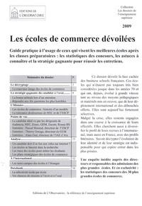 Pierre Pillet - Les écoles de commerce dévoilées.