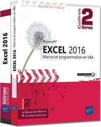 Corridashivernales.be Excel 2016 - Coffret en 2 volumes : Le manuel de référence ; Le cahier d'exercices sur les macros Image