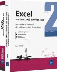 Pierre Rigollet - Excel (versions 2019 et Microsoft 365) - Coffret en 2 volumes : Apprendre et concevoir des tableaux croisés dynamiques.