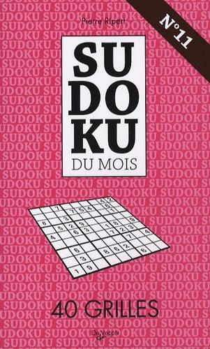 Pierre Ripert - Sudoku du mois N° 11 - 40 grilles.