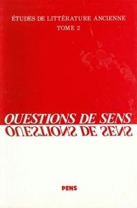 Pierre Salat - Questions de sens.