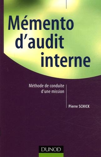 Pierre Schick - Mémento d'audit interne.