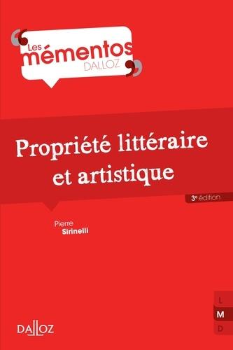Propriété littéraire et artistique 3e édition