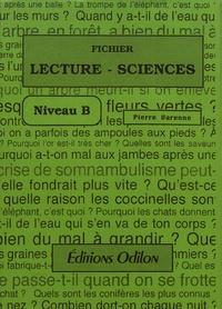 Pierre Varenne - Fichier Lecture-Sciences - Niveau B.