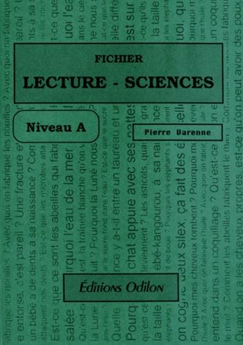 Pierre Varenne - Fichier lecture-sciences - Niveau A.
