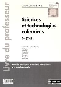 Ucareoutplacement.be Sciences et technologies culinaires 1re STHR - Livre du professeur Image