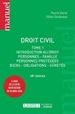 Pierre Voirin et Gilles Goubeaux - Droit civil - Tome 1, Introduction au droit, personnes, famille, personnes protégées, biens, obligations, sûretés.