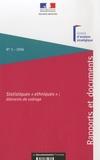 """Pierre-Yves Cusset et Sophie Boissard - Statistiques """"ethniques"""" : éléments de cadrage."""