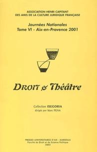 Pierre-Yves Gautier et Grégoire Loiseau - Travaux de l'Association Henri Capitan Tome 6 : Droit et théâtre (Aix-en-Provence, 29 juin 2001) - Journées nationales.