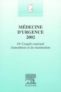 Checkpointfrance.fr Médecine d'urgence 2002. - 44ème Congrès national d'anesthésie et de réanimation Image