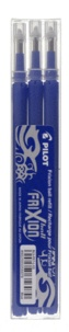 PILOT - 3 recharges stylo roller Frixion - bleu