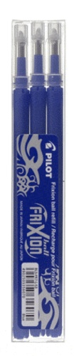 3 recharges stylo roller Frixion - bleu