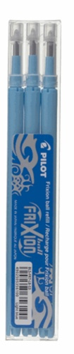PILOT - 3 recharges stylo roller Frixion - turquoise