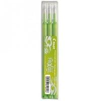 PILOT - 3 recharges stylo roller Frixion - vert citron