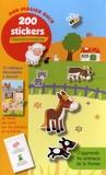 Pimchou - J'apprends les animaux de la ferme - 200 stickers repositionnables.
