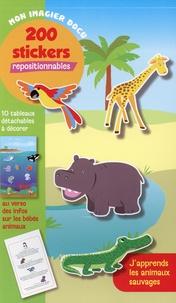 Pimchou - J'apprends les animaux sauvages - 200 stickers repositionnables.