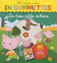 Pimchou - Les trois petits cochons - 40 gommettes, un livre à décorer, un conte à lire.