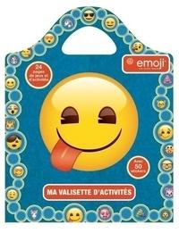 Pimchou - Ma valisette d'activités Emoji - 24 pages de jeux et d'activités, 50 stickers.