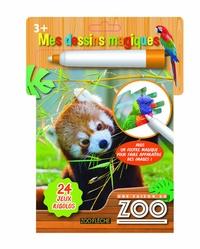 Pimchou et  Banijay Productions - Mes dessins magiques Une saison au zoo - Avec un feutre magique.