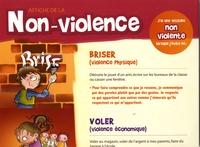 Nadia Berghella - Affiche de la non-violence - Un outil psychoéducatif pour valoriser des attitures pacifiques.