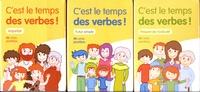 Julie Mélançon et Marjorie Lafontaine - C'est le temps des verbes ! - 3 boîtes de 48 cartes : présent de l'indicatif ; futur simple ; imparfait.