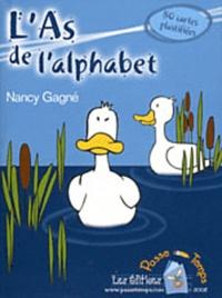Nancy Gagné - L'As de l'alphabet - 80 cartes plastifiées.