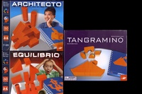Michel Lyons et Robert Lyons - Lot de 3 jeux Architecto, Equilibrio, Tangranimo.