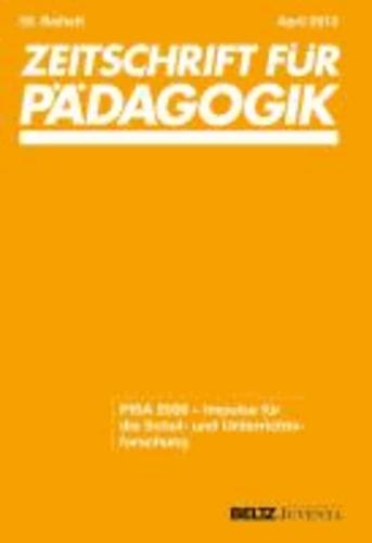 PISA 2009 - Impulse für die Schul- und Unterrichtsforschung. 59. Beiheft.