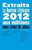 Pit Agarmen et Niccolo Ammaniti - Extraits de la rentrée littéraire 2012 - Editions Robert Laffont, NiL et Julliard.