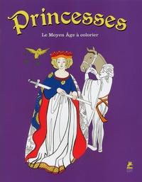 Place des Victoires - Princesses - Le Moyen Age à colorier.