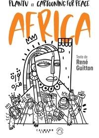 Plantu et René Guitton - Plantu et René Guitton avec les dessinateurs de presse d'Afrique.