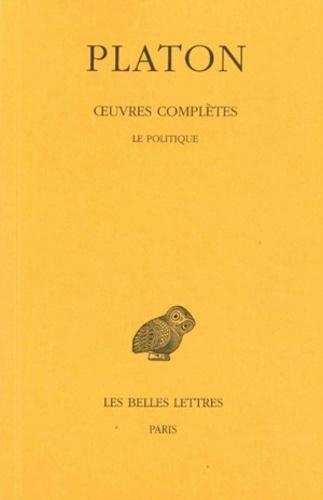 Platon - Oeuvres complètes - Tome 9, 1e partie, Le politique.