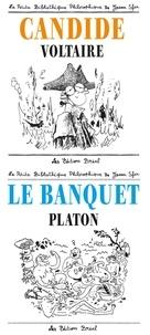 Platon et  Voltaire - Pack en 2 volumes : Le banquet, Platon ; Candide, Voltaire.