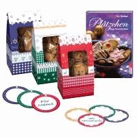 Plätzchen zum Verschenken - Set mit Geschenktüten, Etiketten und Anhängern.