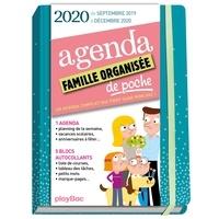 Play Bac et  Ultraviolette - Agenda famille organisée de poche - Couverture bleue.