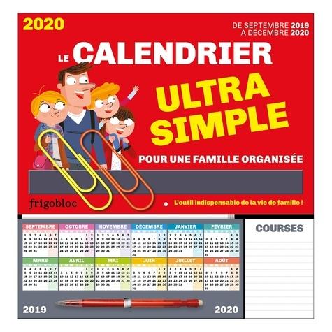 Play Bac - Frigobloc Le calendrier ultra simple pour une famille organisée ! De Sept 2019 à Déc 2020.