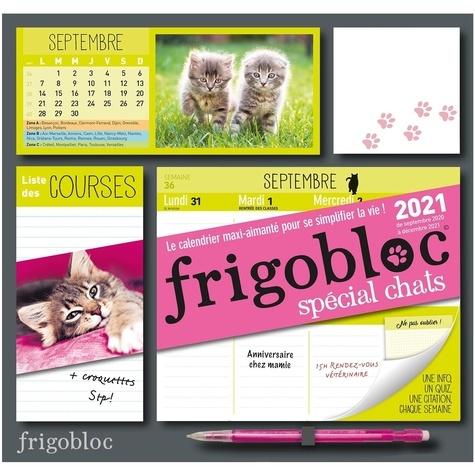 Frigobloc spécial chats. Le calendrier maxi-aimanté pour se simplifier la vie !  Edition 2021