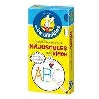 Deedr.fr J'apprends à écrire les majuscules avec Simon - 40 fiches effaçables + feutre Image