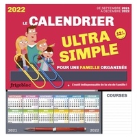 Play Bac - Le calendrier ultra simple pour une famille organisée - De septembre 2021 à décembre 2022. Avec 2 maxi-trombones, 1 crayon, et près de 1000 stickers colorés.